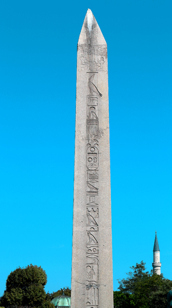 hippodrome: Egyptian obelisk in Hippodrome in Istanbul, Turkey