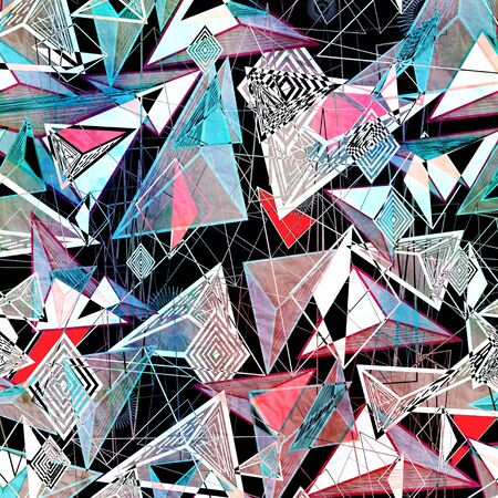 the contour: abstract background of triangles and contour lines