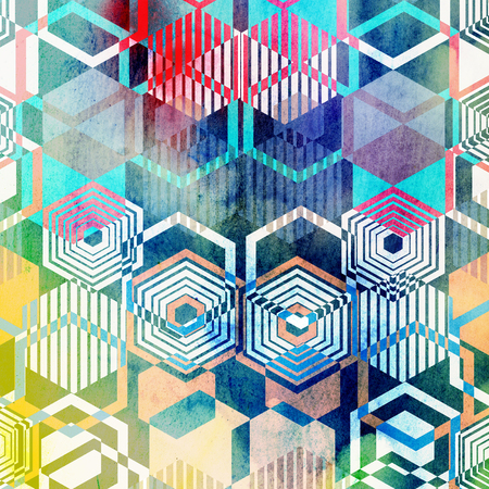 grafische muster: Seamless graphic pattern of repeating geometric polygons