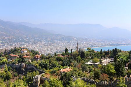 alanya: Turkish resort town of Alanya view from the fortress