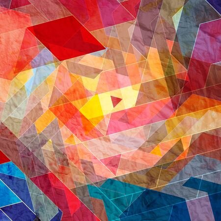 paint samples: bright multicolored background graphic of geometric shapes Stock Photo