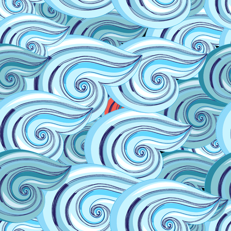 reiteration: Bright seamless pattern with beautiful graphics waves