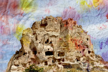 goreme: Beautiful mountain landscape in Cappadocia in Turkey to Goreme