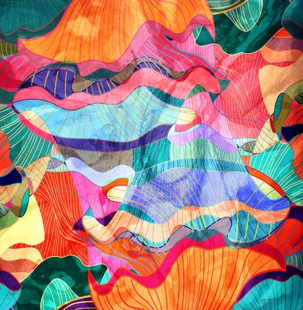 geometria: Brillante colorido de fondo abstracto con diferentes elementos geom�tricos