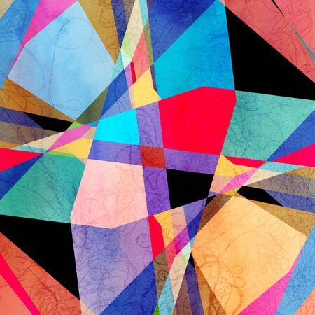 fel veelkleurige achtergrond afbeelding van geometrische vormen