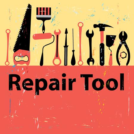 Graphique icône définir des outils de réparation sur fond blanc Banque d'images - 49967204