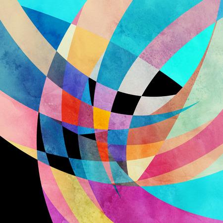 Aged vintage waterverf abstracte achtergrond met verschillende elementen