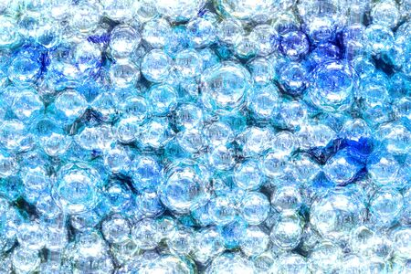 reiteration: Abstract watercolor background with transparent blue balls Stock Photo