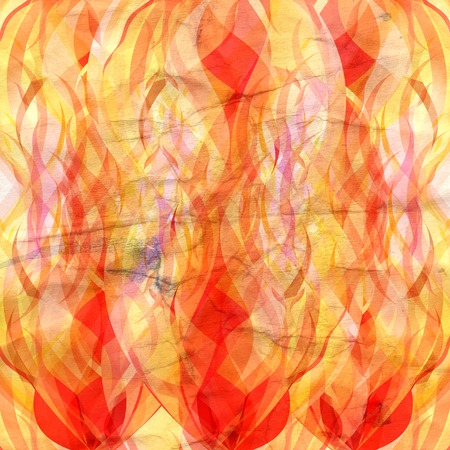reiteration: beautiful bright flame of fire on white background
