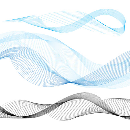 set the intention: set of vector graphics wave on a white background Illustration