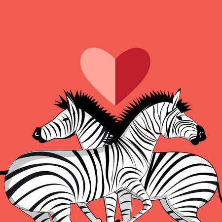 serengeti: Beautiful vector graphic pattern of the lovers of zebras