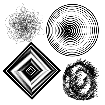 layout design template: Beautiful vector black and white abstract background set