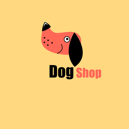 ming: dog portrait - to the pet store, dog training. Easy to use and edit.