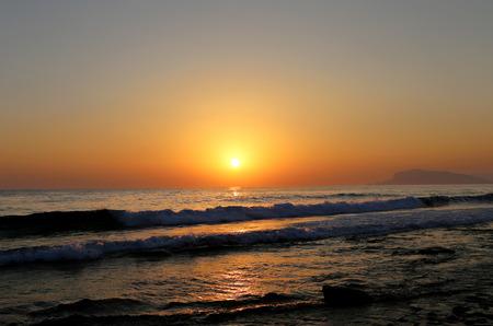 soften: photo of sunset on the sea Stock Photo