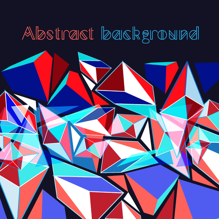 reiteration: Bright vector background with contour geometric elements .
