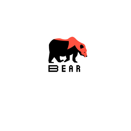 probation: Graphic symbol of a bear on a white background Illustration