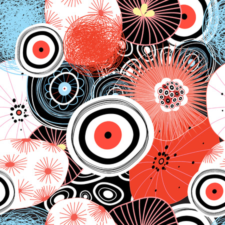 reiteration: Seamless vector abstract graphic pattern of colored elements Illustration