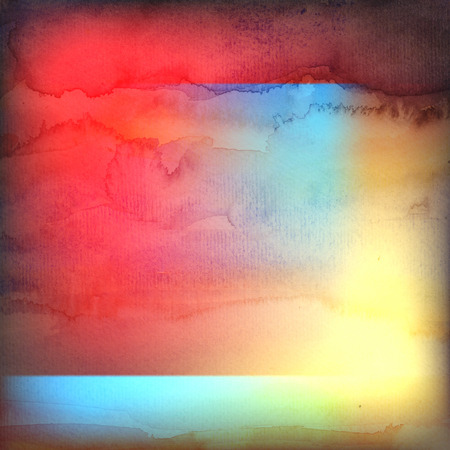 reiteration: Beautiful retro colorful watercolor background with crumpled paper
