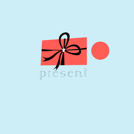 workmanship: Vector symbol of a gift on a white background Illustration