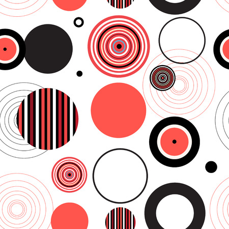 Abstract color seamless pattern with geometric elements.