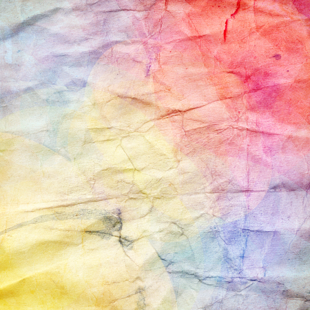 reiteration: Watercolor colorful abstract background with crumpled paper