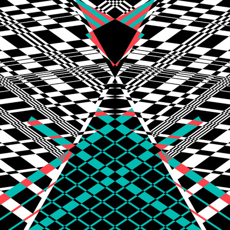 Abstract geometric background with different geometric elements on white. Example for design Illustration