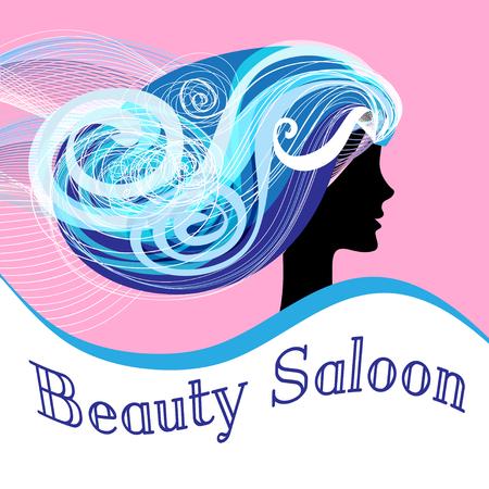 dandruff: Poster beautiful advertising vector woman Beauty Salon