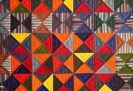Bright colorful photo interesting artistic background patchwork fabric