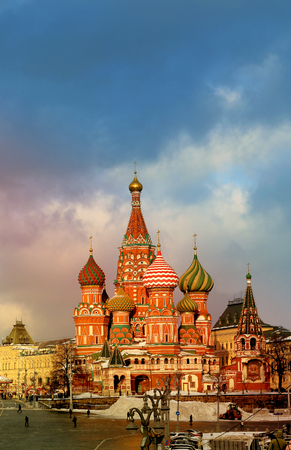 russian pattern: Photos bright beautiful St Basils Cathedral in the Moscow Kremlin