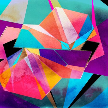 Graphic brightness abstract background with geometric elements
