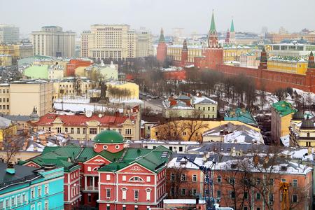 Photo retro beautiful wonderful winter Moscow Kremlin Stock Photo