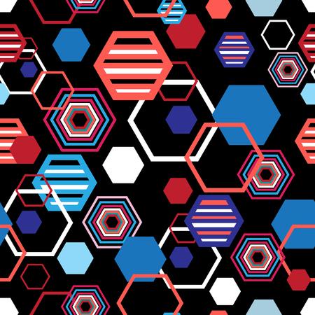 Geometrical bright pattern of rhombuses on a dark background
