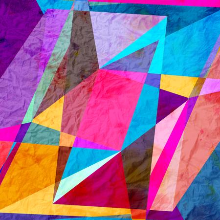 水彩抽象的なカラフルな背景ジオメトリ要素。デザイン テンプレートの背景。