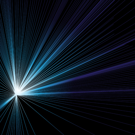 Abstract vector background with luminous blue rays