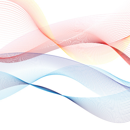 Vector abstract pattern with waves on white background