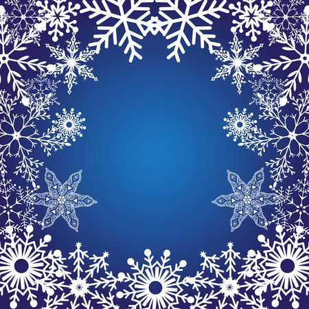 Vector brightly winter decorative pattern with snowflakes