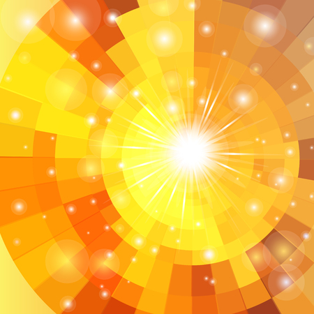 鮮やかなベクトル日の出円技術パターンを抽象化します。