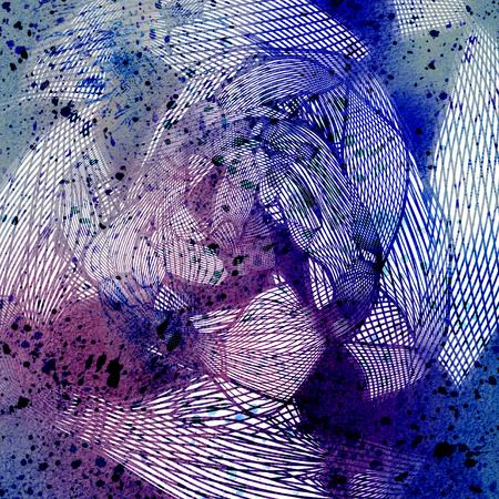 色とりどりの明るいグラフィック波抽象化