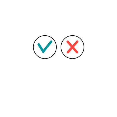 Vector icons are allowed and forbidden on a white background