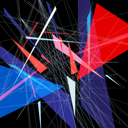 Bright abstract fantastic background with geometric elements.