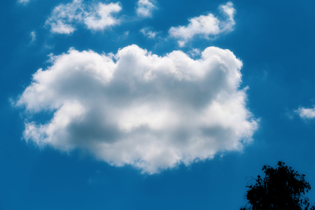 Photo of a sunlit cloud in the sky