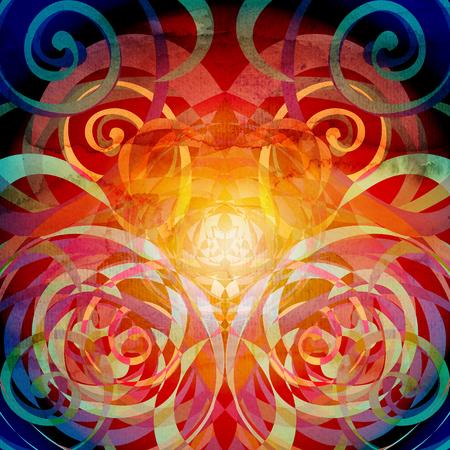 水彩抽象的なカラフルな背景? rnamental 要素。デザイン テンプレートの背景。