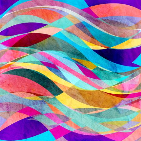 Waterverf abstracte kleurrijke achtergrond met fantastische elementen. Achtergrond voor ontwerpsjabloon.