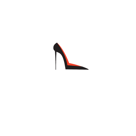 Vector shoe female sign isolated on white background Illustration