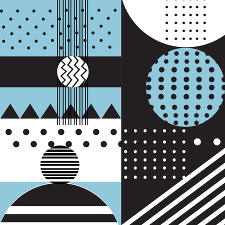 Vector abstract geometric background with different elements Ilustração