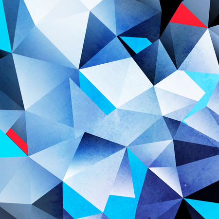 Watercolor geometric background with colored volumetric polygons