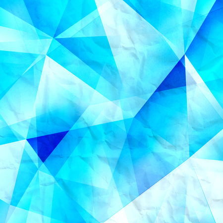 new age: Watercolor geometric background with colored volumetric polygons