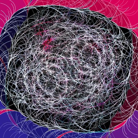 Abstracte tekening van een gestippeld fantastisch patroon op een retro achtergrond