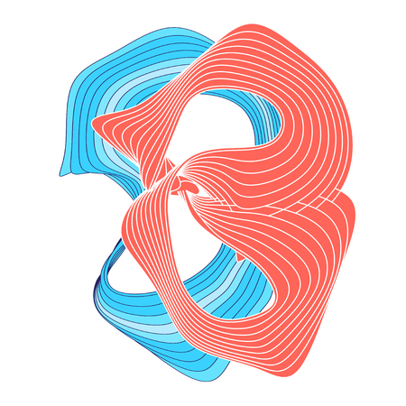 Abstracte gekleurde achtergrond met golvende elementen