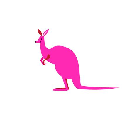 Vector symbol of a kangaroo